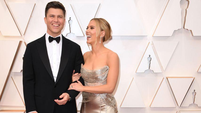 Colin Jost und Scarlett Johansson bei den Oscars 2020