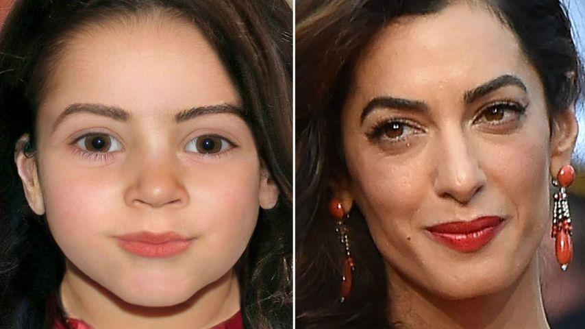 So (l.) könnte Amal Clooneys (r.) Tochter aussehen