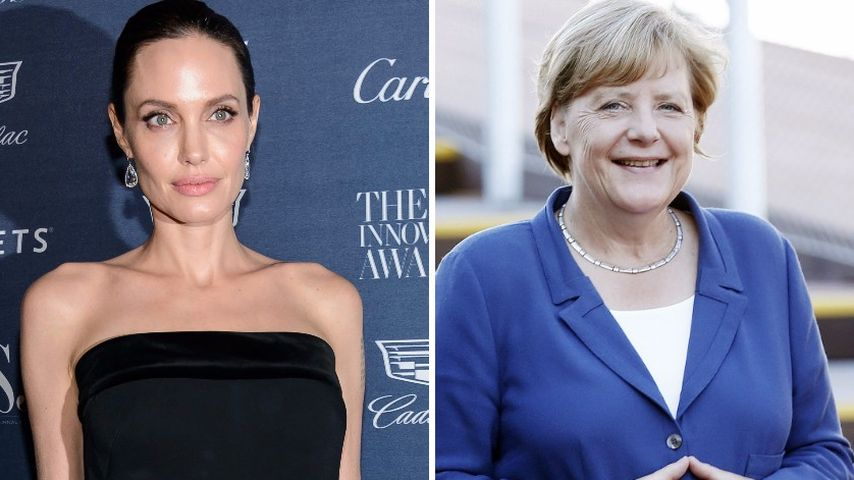 Angelina Jolie und Angela Merkel