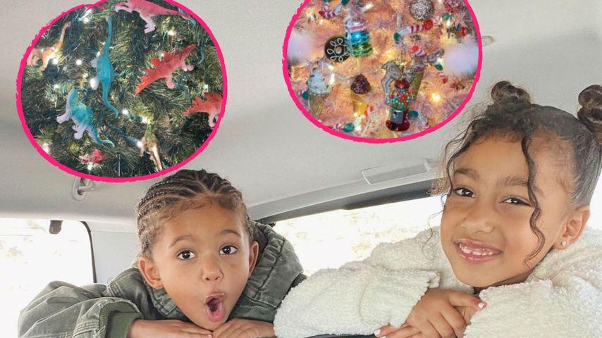 Wie süß! Saint und North West haben eigene Weihnachtsbäume