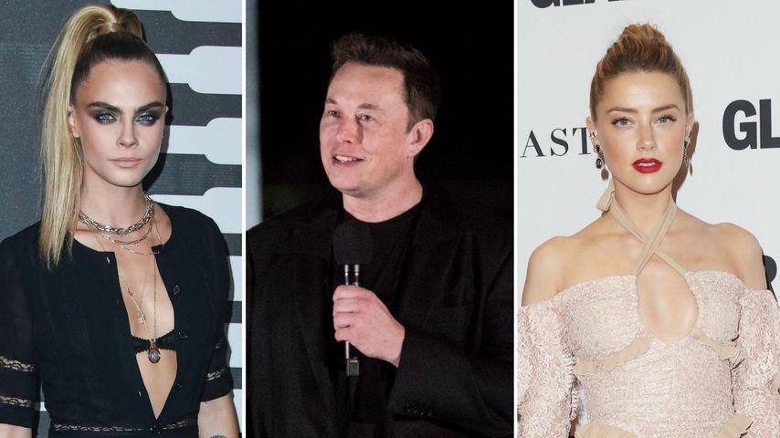 Depp behauptet: Amber hatte Dreier mit Cara und Elon
