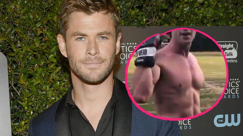 """Bald ein """"Man in Black"""": So heiß trainiert Chris Hemsworth!"""