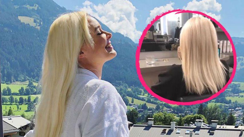 Superstolz: So lang sind Daniela Katzenbergers echte Haare