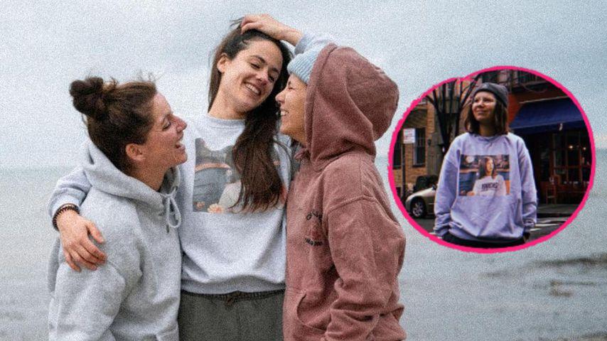 Verdächtig? Hier trägt Irina Schlauch Miris Sweatshirt!