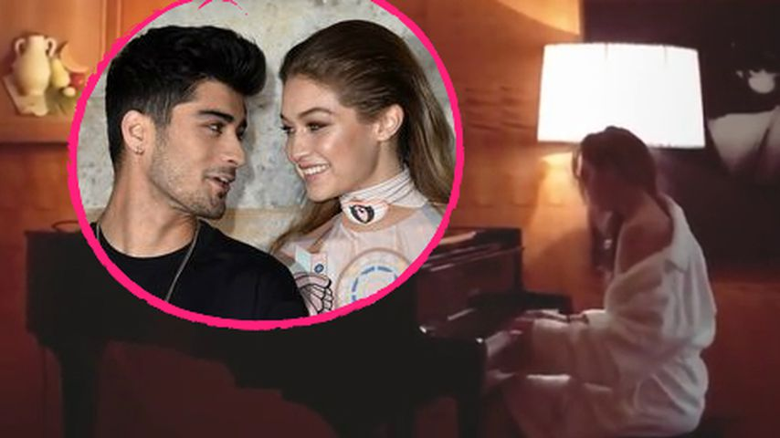 Trennungs-Message? Gigi Hadid haut in die Klavier-Tasten