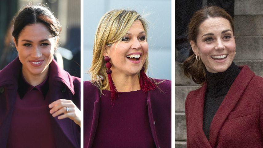 Wie Kate & Meghan: Königin Maxima bezaubert im Beerenlook!
