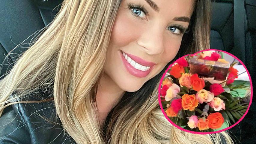 Heimlicher Verehrer? Jenny Frankhauser bekommt anonym Blumen