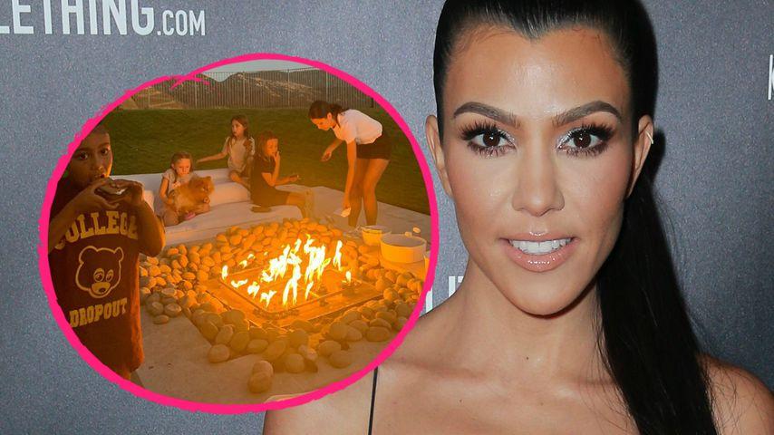 Glamping: Kourtney schläft mit Kardashian-Kids im Freien