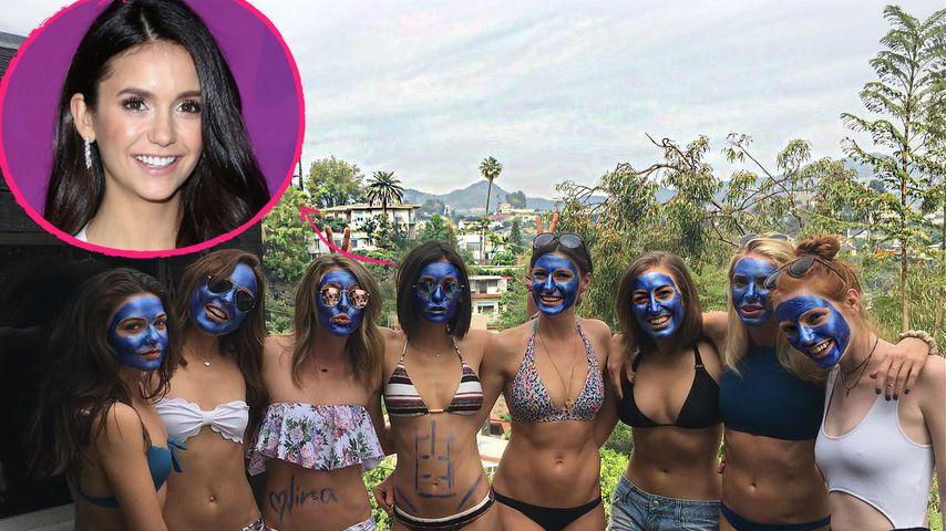 Blue Woman Group: Nina Dobrev und Co. als Schlümpfe!