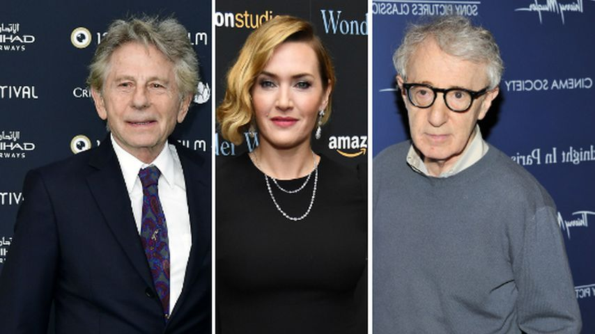 Collage: Roman Polanski, Kate Winslet und Woody Allen