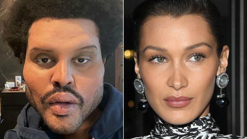 """Beauty-OPs"": Fans vergleichen The Weeknd mit Bella Hadid"