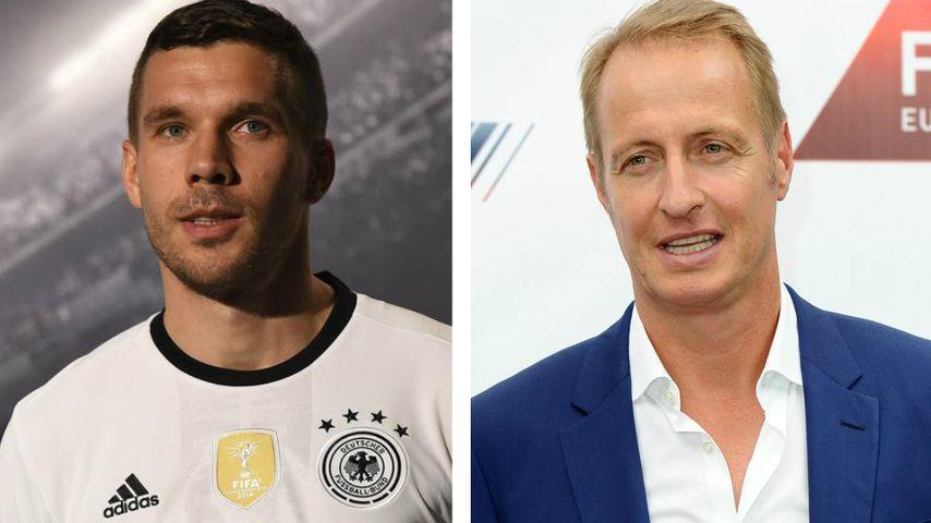 Fan-Ausraster: Poldi zofft sich auf Twitter mit RTL-Reporter