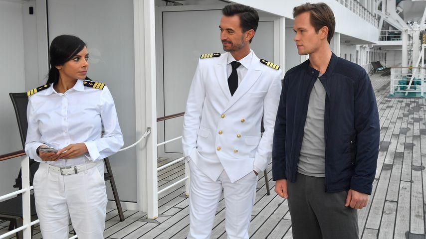 """Collien Ulmen-Fernandes, Florian Silbereisen und Marlon Boess in """"Das Traumschiff"""""""
