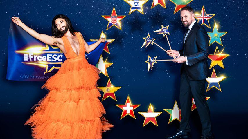Conchita Wurst und Steven Gätjen für den #FreeESC