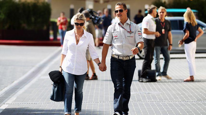 Corinna und Michael Schumacher in Abu Dhabi, 2011