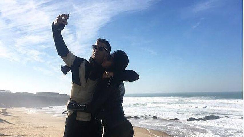 Cristiano Ronaldo mit seiner Freundin Georgina Rodriguez