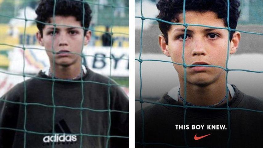 Panne oder gewollt? Nike gratuliert Cristiano mit Adidas-Pic