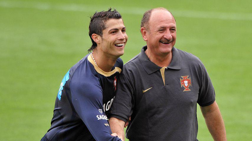 Cristiano Ronaldo und Luiz Felipe Scolari 2008