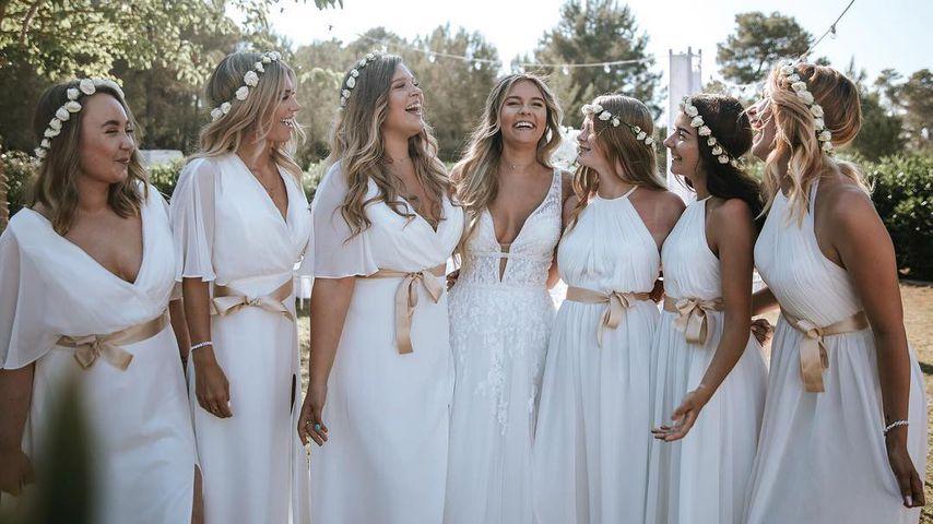 Hübsche Brautjungfern: Diese Girls feierten mit Dagi Bee!