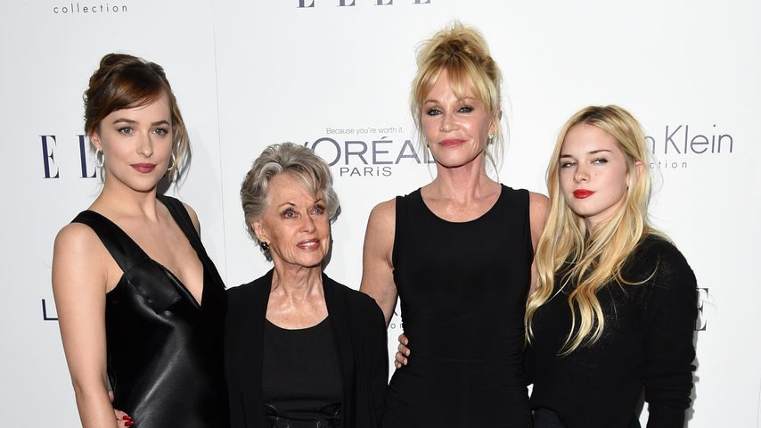 Dakota Johnson, Tippi Hedren, Melanie Griffith und Stella Banderas