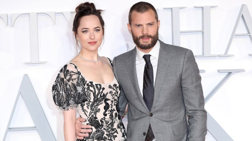 "Dakota Johnson und Jamie Dornan bei der ""Fifty Shades Darker""-Premiere"