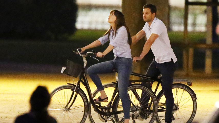 "Dakota Johnson und Jamie Dornan am Set von ""Shades of Grey"""
