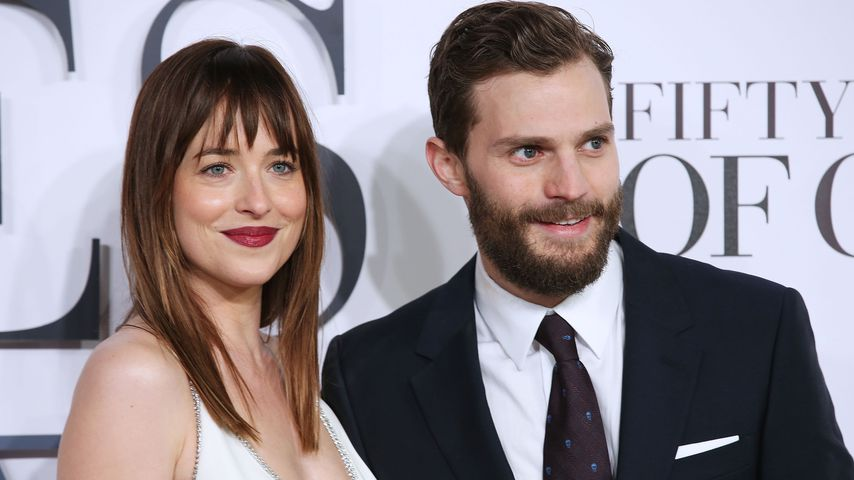 "Dakota Johnson und Jamie Dornan bei der Premiere von ""Fifty Shades of Grey"" in London"
