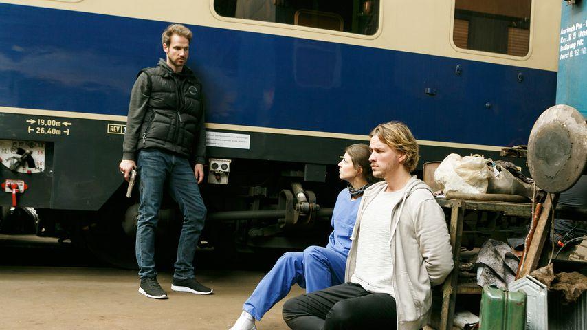 Damian (Christian Feist), Pauline (Maike Johanna Reuter) und Finn (Christopher Kohn)