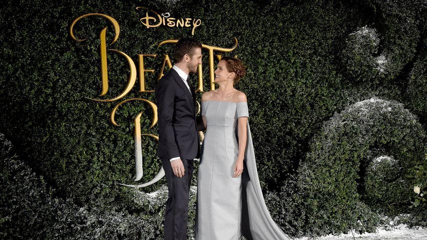 Dan Stevens und Emma Watson 2017 in London