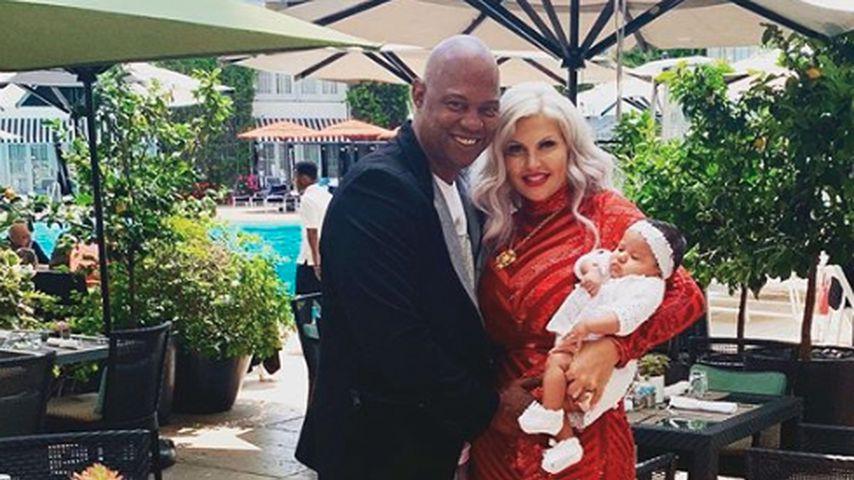 Daniel Charlier, Sophia Vegas und Tochter Amanda im Mai 2019