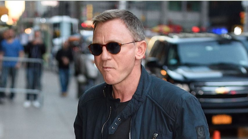 Daniel Craig auf dem Weg zur Late Night Show mit Stephen Colbert in New York