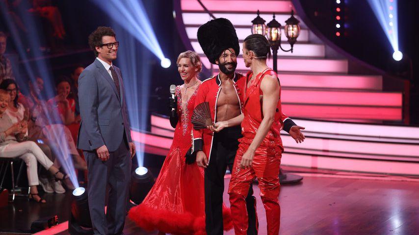 "Daniel Hartwich, Julia Dietze, Massimo Sinató und Jorge Gonzalez bei ""Let's Dance"", 2018"