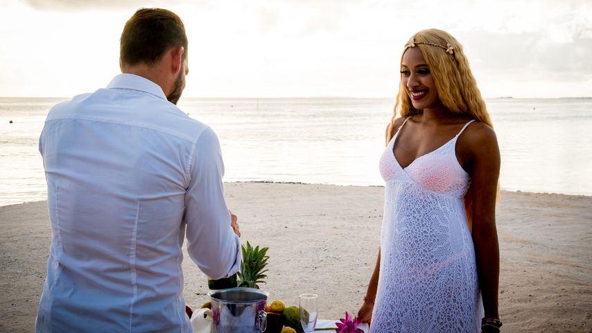 "Daniel Köllerer und Sarah Joelle Jahnel bei ""Adam sucht Eva - Promis im Paradies"""