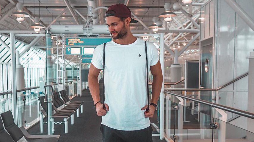 Daniel Lott auf dem Weg zu seinem Aruba-Urlaub, 2019