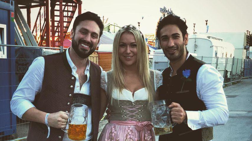 Daniel Völz, Chethrin Schulze und Umut Kekilli beim Oktoberfest in München
