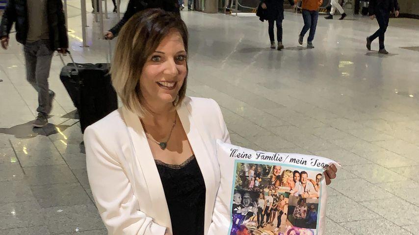 Daniela Büchner am Flughafen in Frankfurt