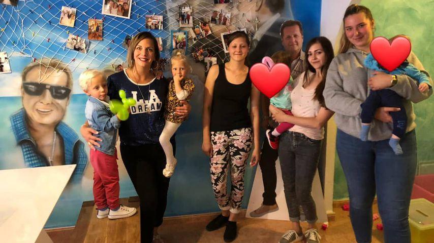 Daniela Büchner mit den Zwillingen Diego und Jenna, Jessica, Jenny mit Kindern und Joelina