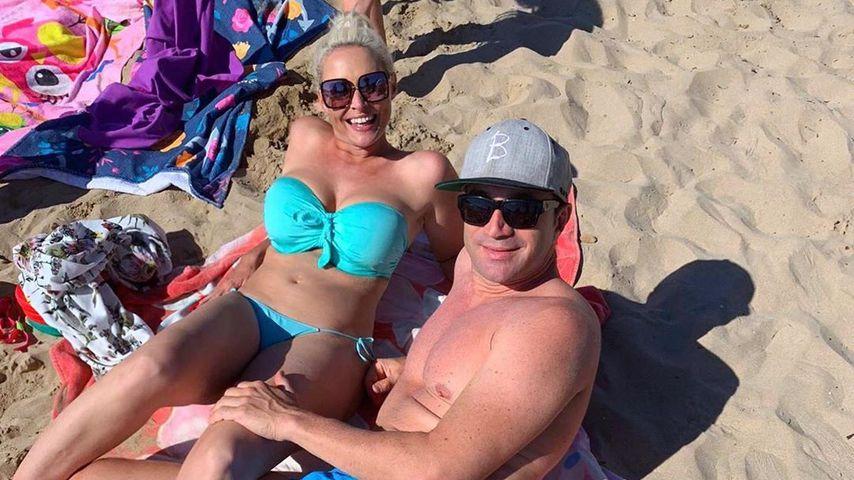 Daniela Katzenberger und Lucas Cordalis am Strand