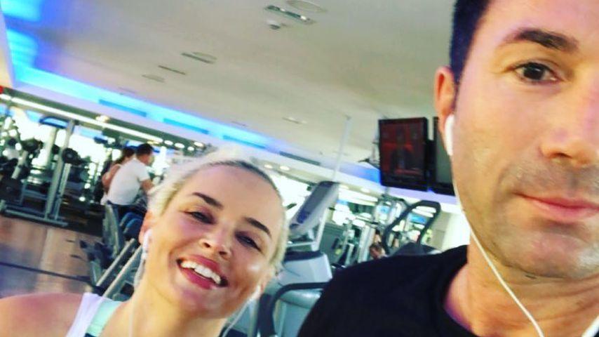 Daniela Katzenberger und Lucas Cordalis im Januar 2019 bei einer Gym-Session