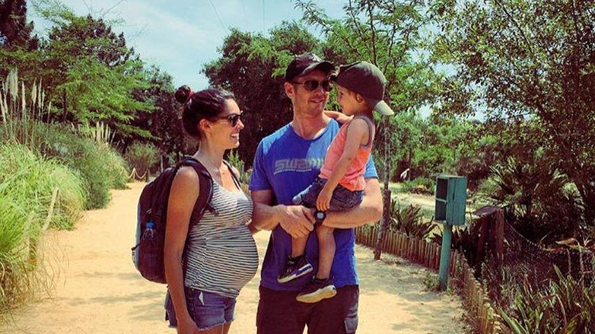 Daniela Ruah mit Ehemann David und Sohn River Isaac