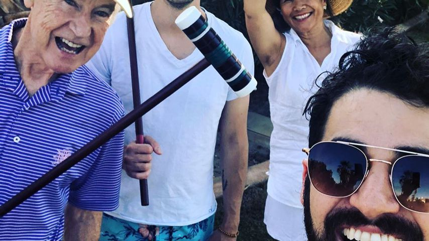 Darren Criss mit seiner Familie