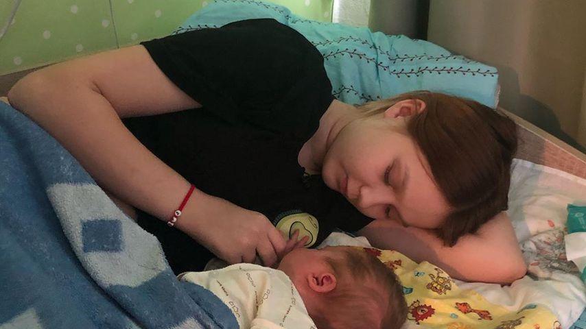 Darya Sudnishnikova und ihr Baby Emily, September 2020