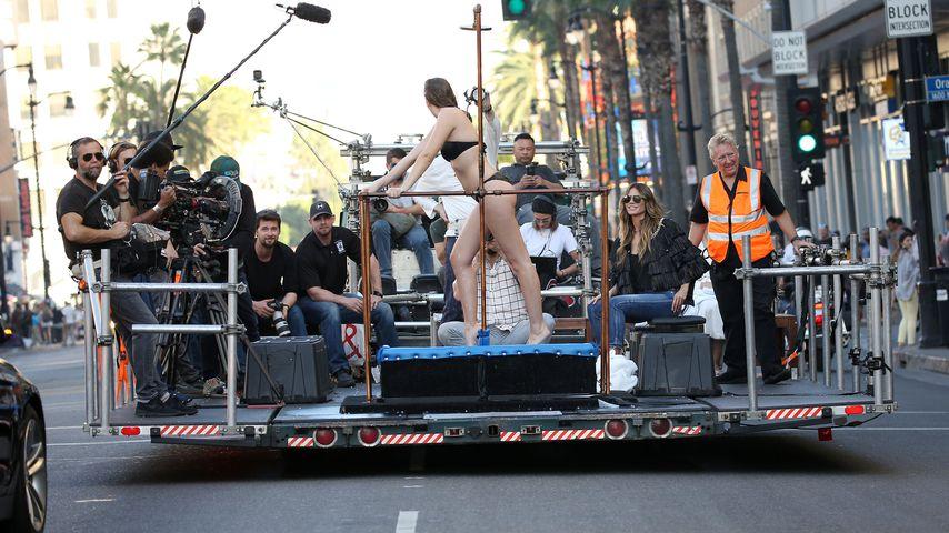 """Germany's next Topmodel""-Dreharbeiten auf dem Hollywood Boulevard"