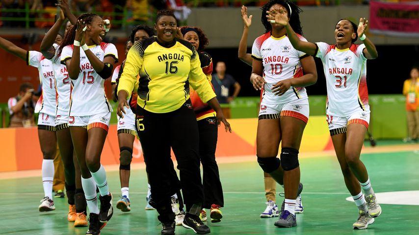 Das Handballteam aus Angola