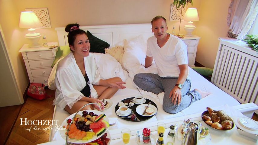 """Das """"Hochzeit auf den ersten Blick""""-Paar Lisa und Michael nach seiner Hochzeitsnacht"""