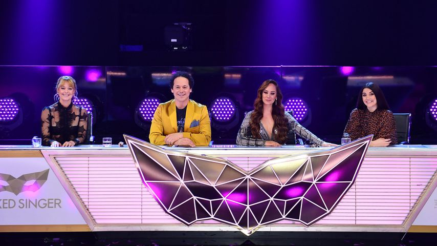 """Das Rateteam in der Final-Folge der zweiten Staffel von """"The Masked Singer Austria"""""""
