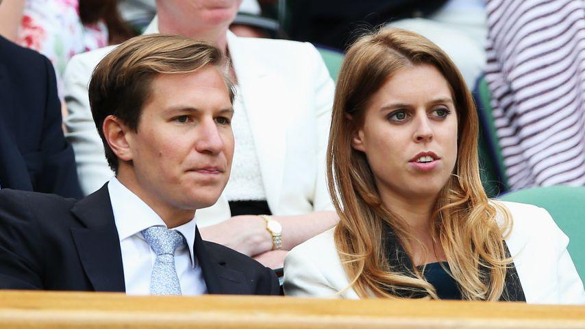 Dave Clark und Prinzessin Beatrice in Wimbledon 2014