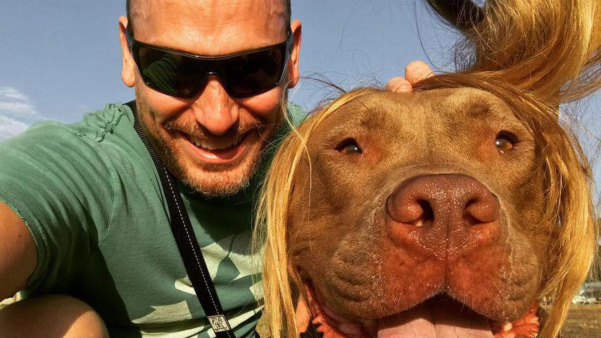 Dave Creek mit seinem Hund Chop, 2018