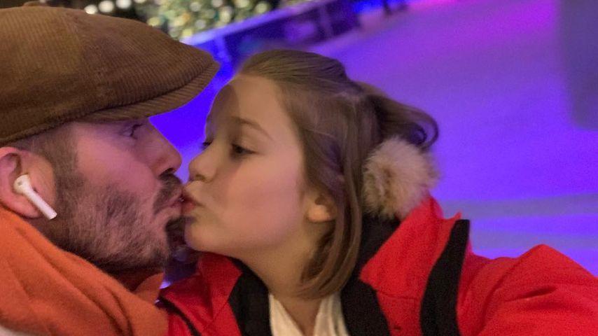 David Beckham küsst Harper auf den Mund und erntet Shitstorm