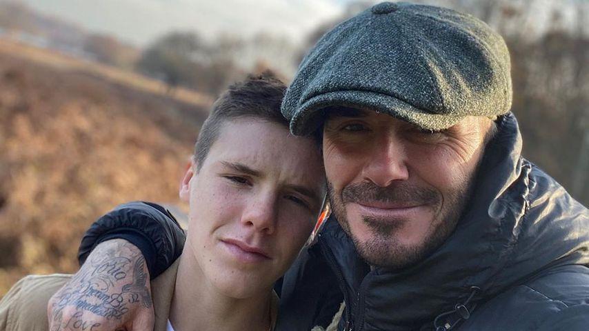 David Beckham mit seinem Sohn Cruz